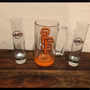 San Francisco giants beer stein and shot glasses